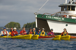 Sea Kayakers flotilla