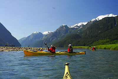 kayakers in inlet